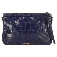 Miu Miu Women  Shoulder bags  Navy Leather