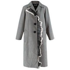 Miu Miu Wool & Mohair Gingham Coat with Lace Detail 38