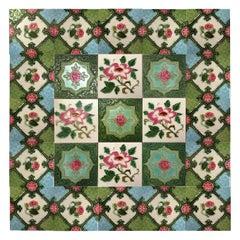 Mix of 25 Glazed Relief Tiles By S.A. Produits Ceramiques de la Dyle, 1930s