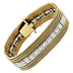 Mixed Antique Diamond Platinum & Gold Bracelet