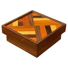 Mixed Exotic Wood Trinket Box by Don Shoemaker