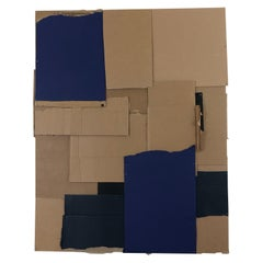 """Mixed-Media Cardboard & Acrylic Painting Titled """"What If"""" by Rebecca Ruoff, 2020"""