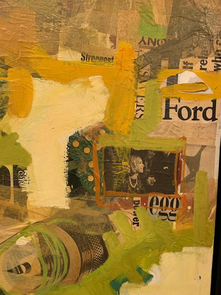 Mixed-Media Collage Art by Tom Marchin For Sale 6
