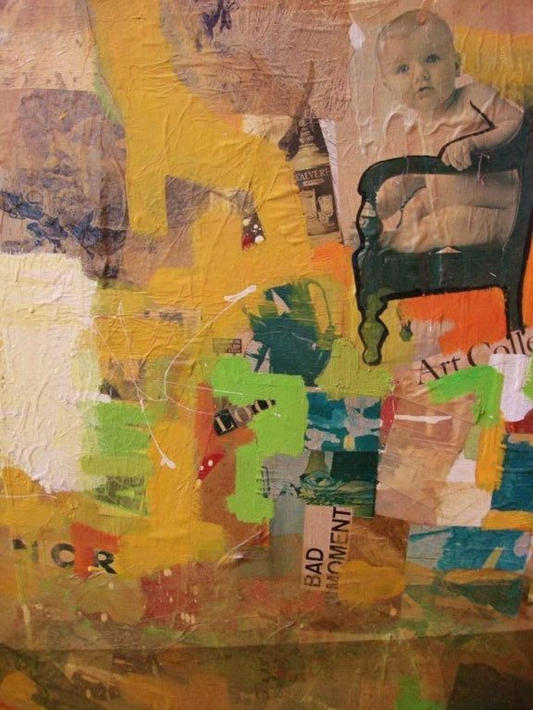 Mixed-Media Collage Art by Tom Marchin In Good Condition For Sale In East Hampton, NY