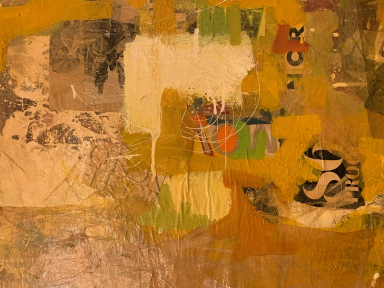 Mixed-Media Collage Art by Tom Marchin For Sale 1