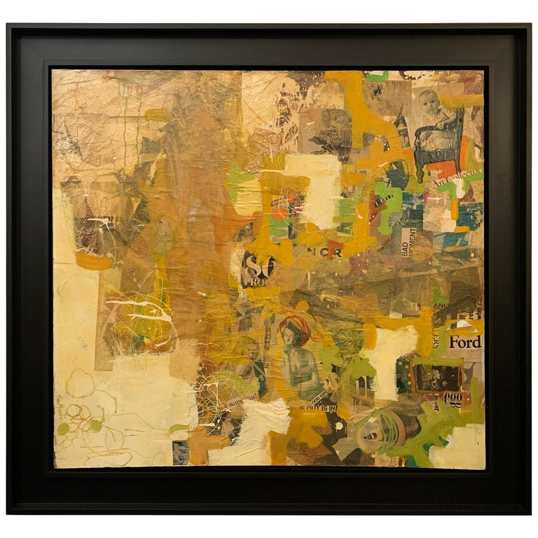 Mixed-Media Collage Art by Tom Marchin For Sale