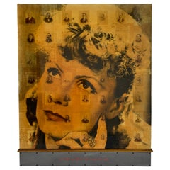 Mixed Media Collage of Antique Photographs and Letters by Ben Freeman