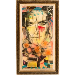 Mixed-Media Painting Arkvl by NYC Street Artist Dain