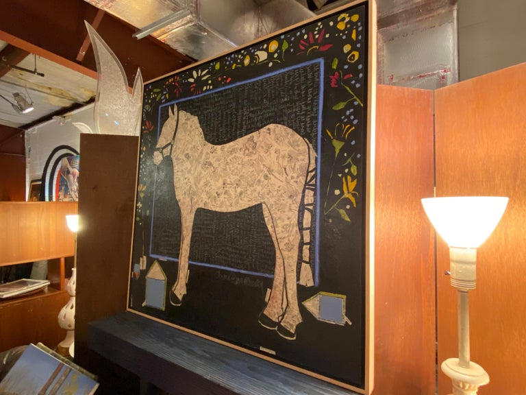 American Mixed Media Painting by Ann Broadway