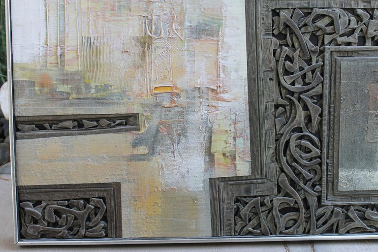 American Mixed-Media Painting by Don Clausen For Sale