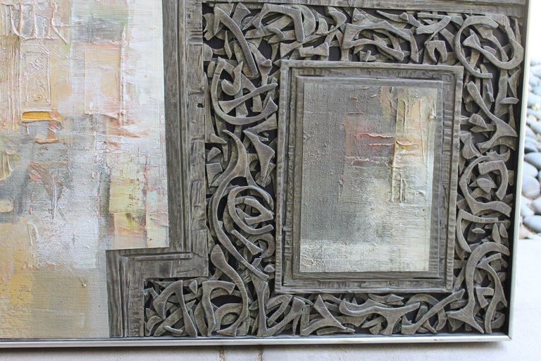 Mixed-Media Painting by Don Clausen In Excellent Condition For Sale In Palm Springs, CA