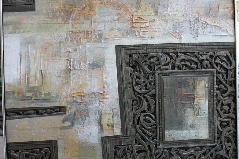 Late 20th Century Mixed-Media Painting by Don Clausen For Sale