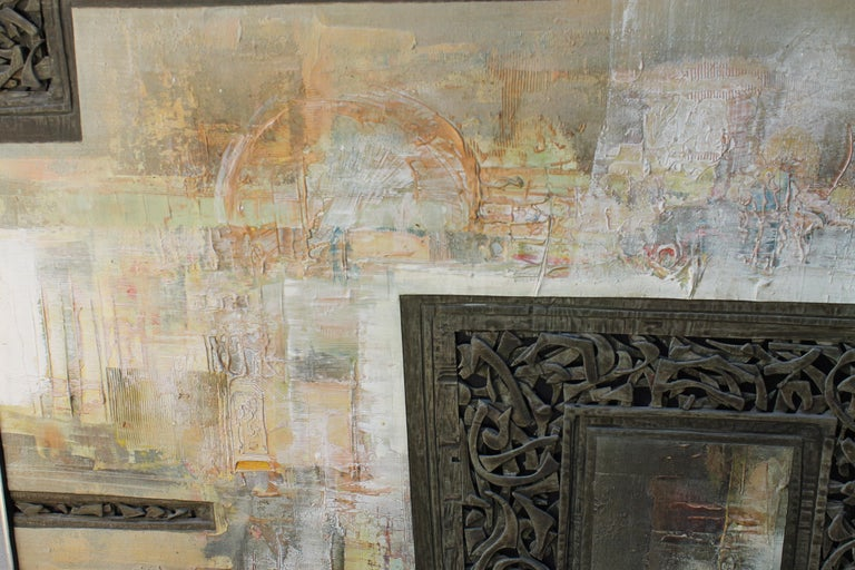 Mixed-Media Painting by Don Clausen For Sale 1