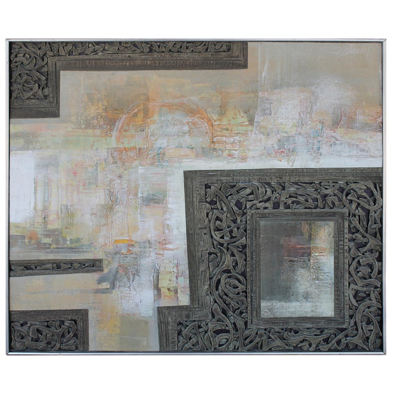 Mixed-Media Painting by Don Clausen For Sale