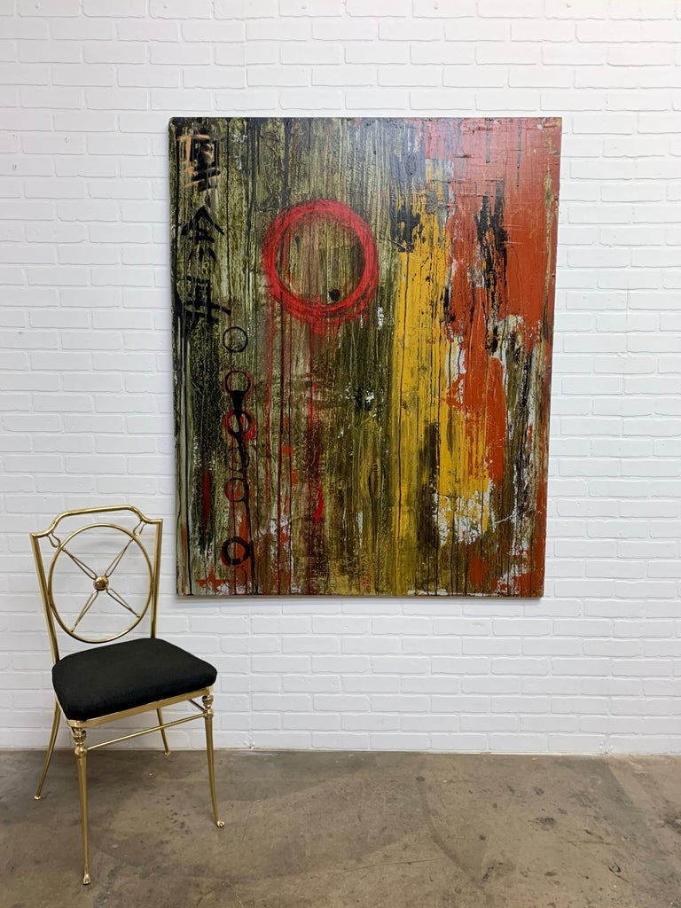 20th Century Mixed Media Painting on Board For Sale