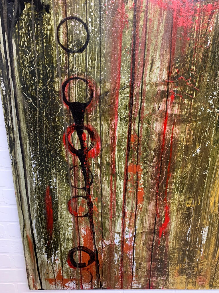Mixed Media Painting on Board For Sale 2