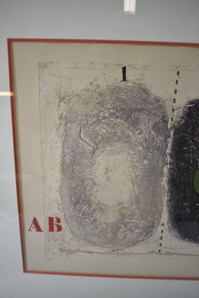 Mixed-Media Signed and Numbered Carborundum Etching by James Coignard 2/25 For Sale 4