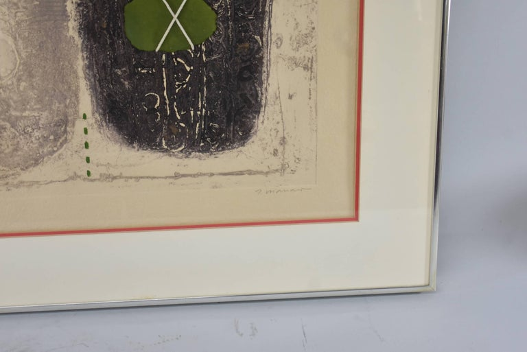 Mixed-Media Signed and Numbered Carborundum Etching by James Coignard 2/25 In Excellent Condition For Sale In Toledo, OH