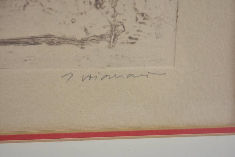 Mixed-Media Signed and Numbered Carborundum Etching by James Coignard 2/25 For Sale 2