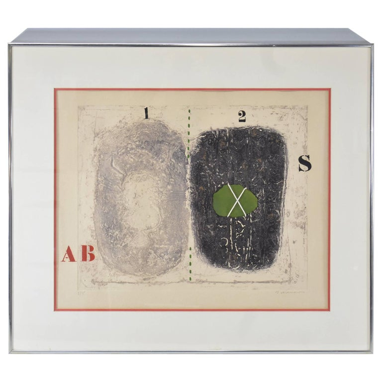 Mixed-Media Signed and Numbered Carborundum Etching by James Coignard 2/25 For Sale