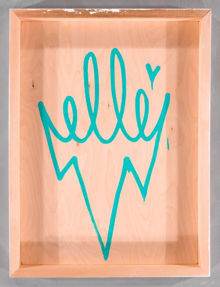 A mixed-media limited edition work by the well known street artist Elle.