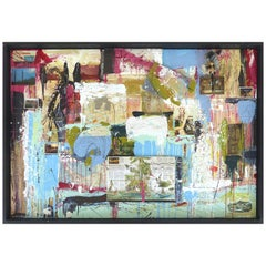 """William P. Montgomery Abstract Mixed Media Painting """"Swamp Talk 1/2"""", 2015"""