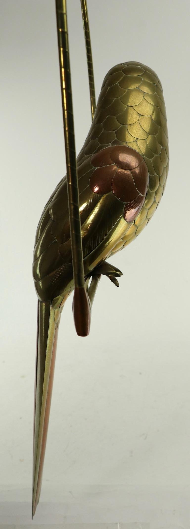Mixed Metal Bird Sculpture by Sergio Bustamante For Sale 6