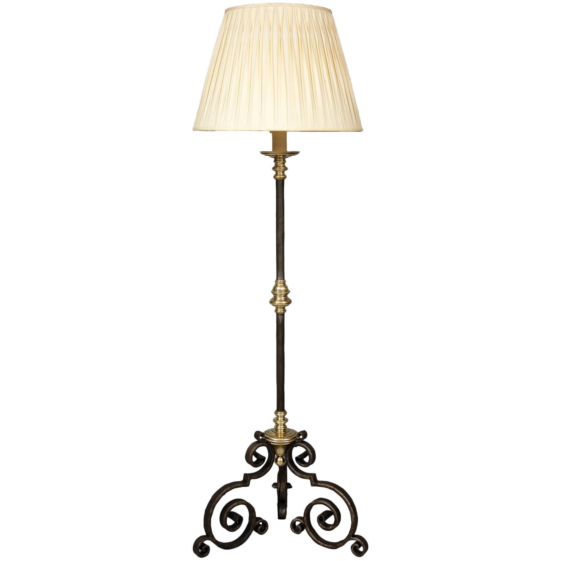 Mixed Metal Floor Lamp