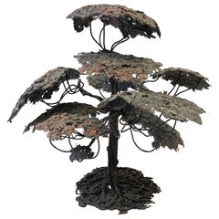Mixed Metal Monterey Cypress Tree Sculpture
