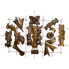 Mixed Metal Wall Sculpture