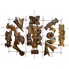Mixed Metal Wall Sculpture