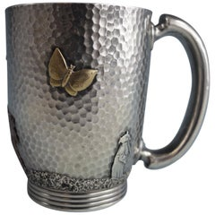 Mixed Metals by Gorham Sterling Silver Baby Cup #3210 Hammered