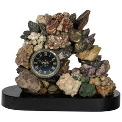 Mixed Mineral Clock with Key