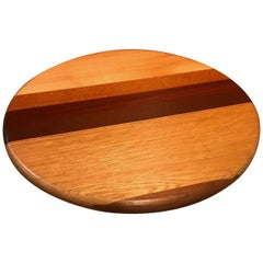 Mixed Woods Lazy Susan Tray by David Levy