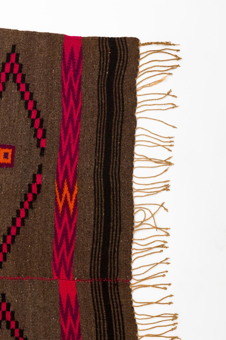 20th Century Mixtec Mexican Colorful Serape Blanket For Sale