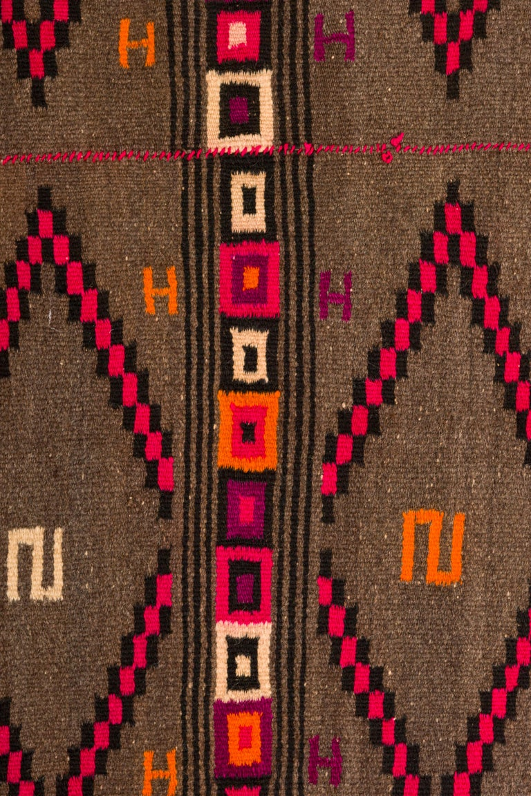 Wool Mixtec Mexican Colorful Serape Blanket For Sale