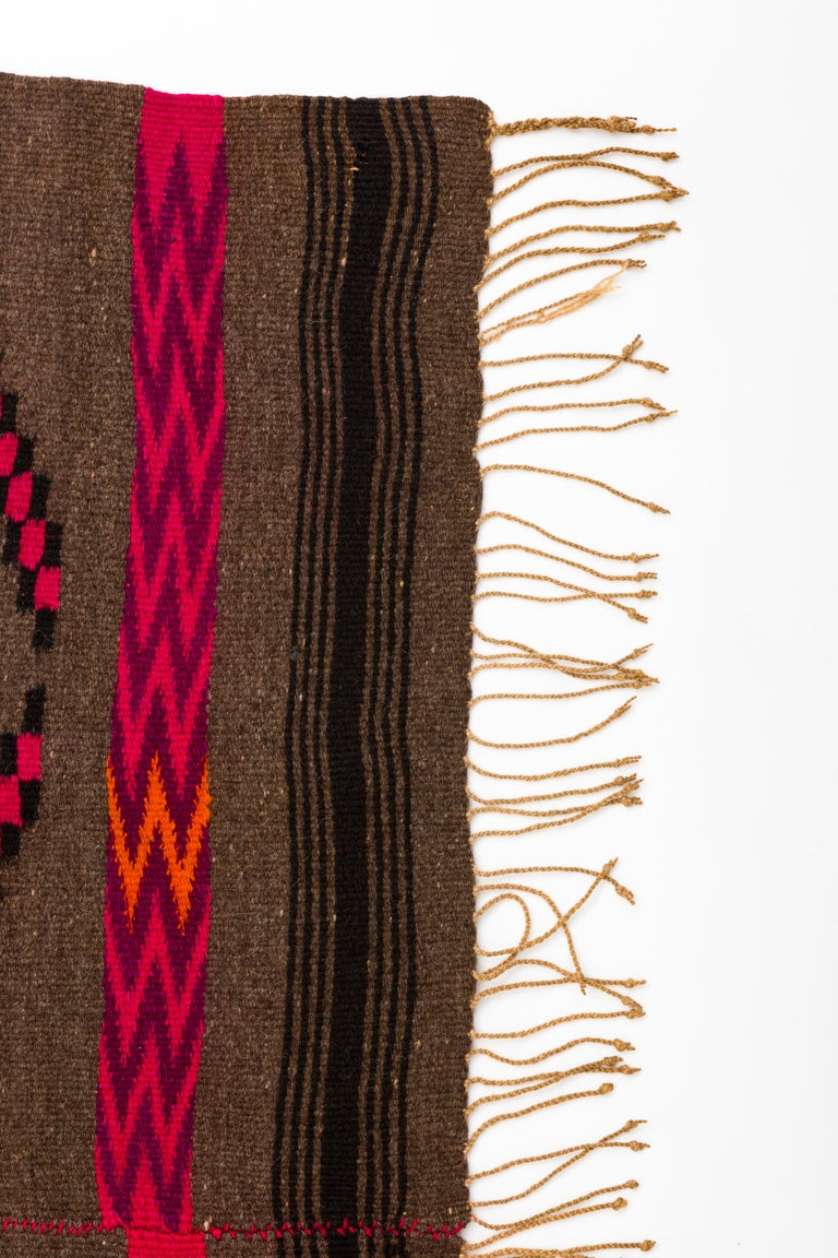 Mixtec Mexican Colorful Serape Blanket For Sale 1