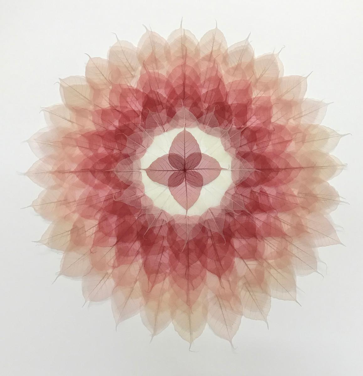 Red White Circle Mandala