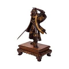 Miyao Patinated Bronze Model of a Samurai