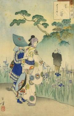 Iris Garden - Offset Print After Mizuno Toshikata