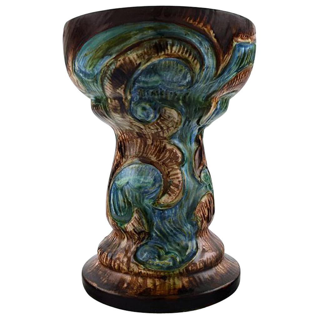 Møller & Bøgely, Art Nouveau Large Ceramic Vase of Glazed Ceramics, circa 1920s