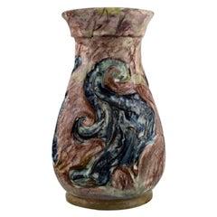 Møller & Bøgely, Art Nouveau Vase in Glazed Ceramics, 1917-1920
