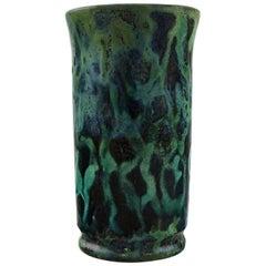 Møller & Bøgely, Denmark, Art Nouveau Vase in Glazed Ceramics, 1917-1920