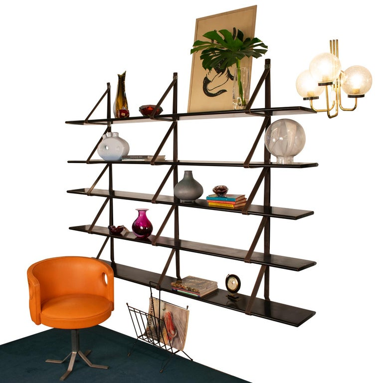Mid-Century Modern MM Wall Mounted Bookshelf Designed by Miguel Milá for Gres, 1962, Spain