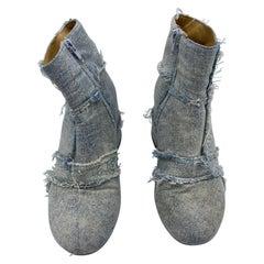 MM6 Maison Margiela Denim Ankle Boots, Size 38