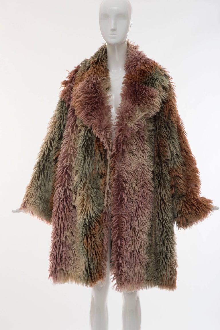 MM6 Maison Margiela Faux Fur Double Breasted Coat For Sale 6