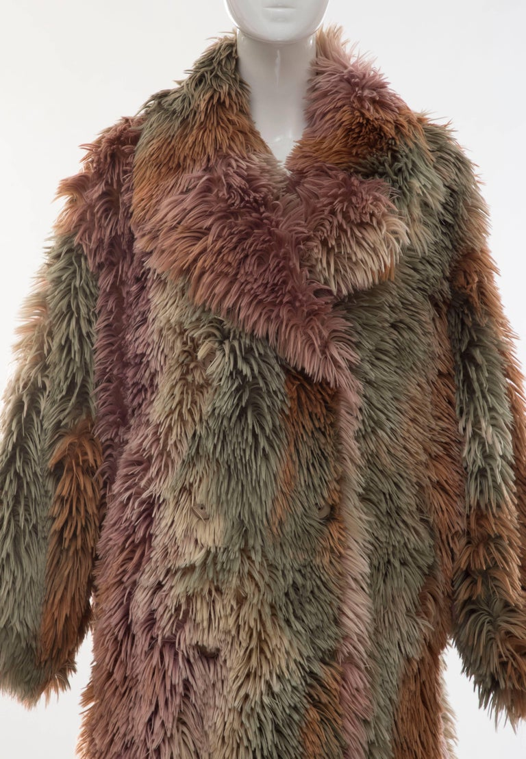 Women's MM6 Maison Margiela Faux Fur Double Breasted Coat For Sale