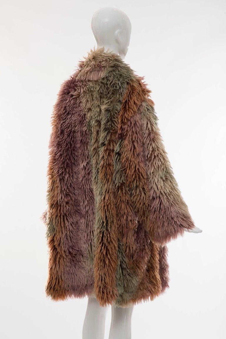 MM6 Maison Margiela Faux Fur Double Breasted Coat For Sale 1