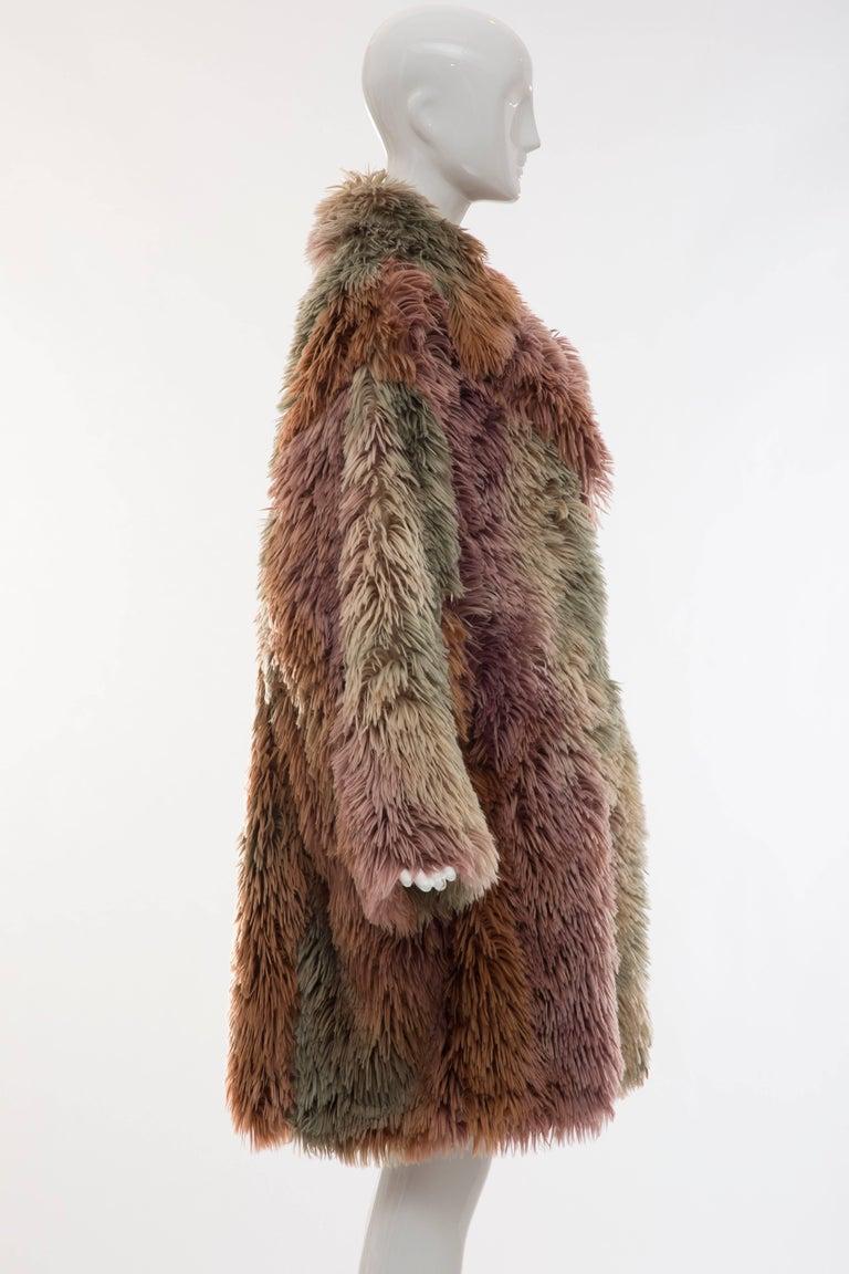 MM6 Maison Margiela Faux Fur Double Breasted Coat For Sale 2