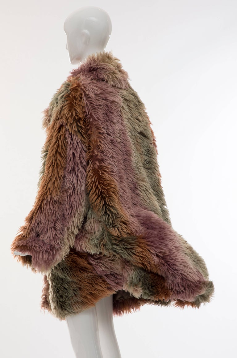 MM6 Maison Margiela Faux Fur Double Breasted Coat For Sale 3